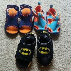 3 pairs boys sandals size 7 and 7/8